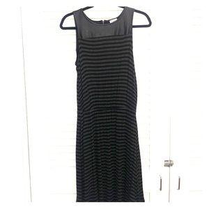 Splendid dress, black/grey stripe size med